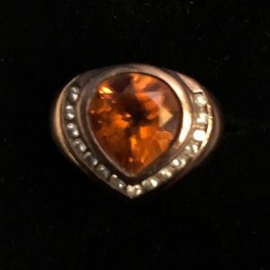 Copper toned 925 silver ring
